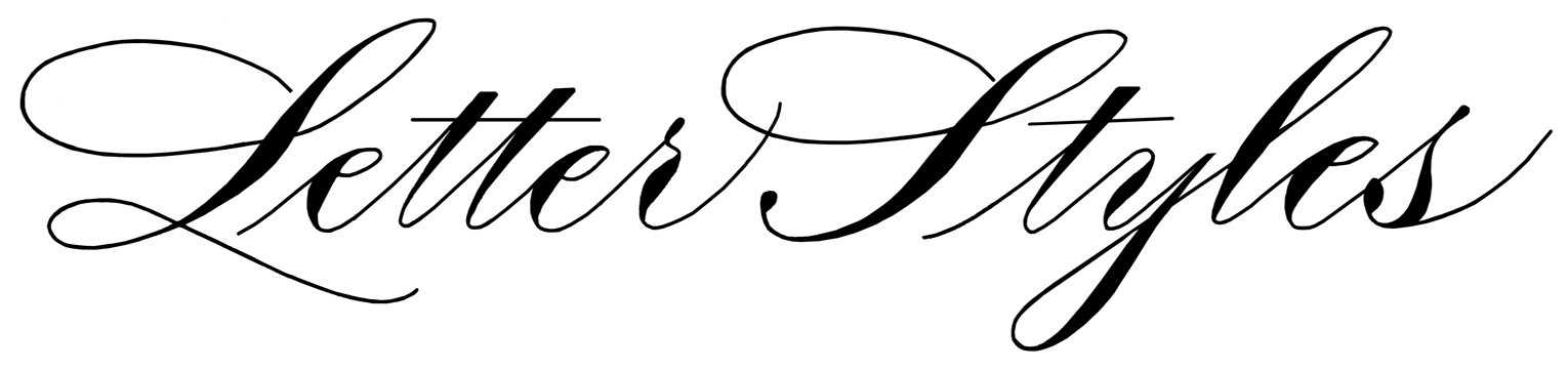 Letter Styles - Well-Written Calligraphy
